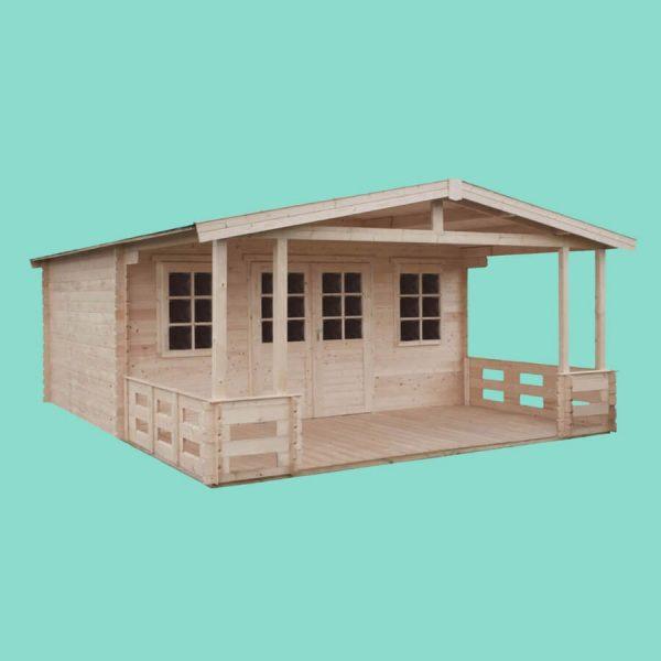 Domek ogrodowy 15790-P z tarasem 6,64×4,74×2,66h