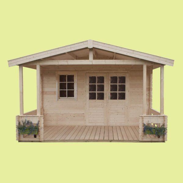 Domek ogrodowy 15 760-6 z tarasem 6,04×4,14×2,66h