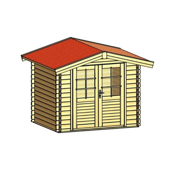 Domek ogrodowy 15731-P 2,64×2,64×2,38h