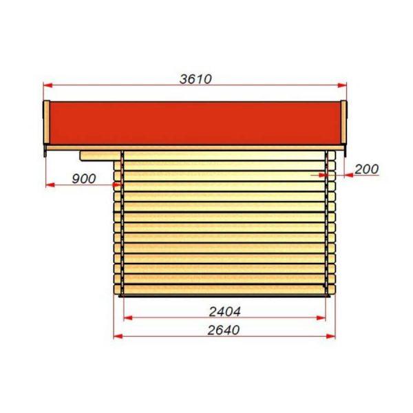Domek ogrodowy 15740-P 3,54×2,64×2,51h