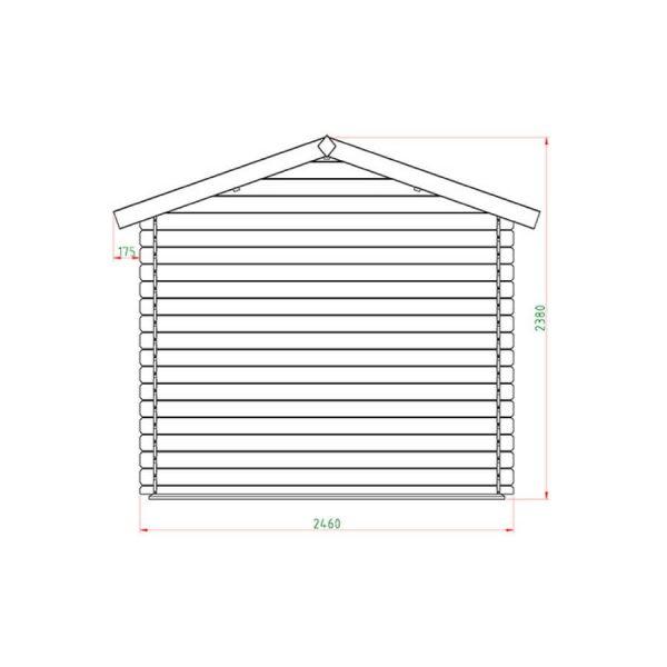 Domek narzędziowy 16 404-P 2,46 x 1,96 x 2,38