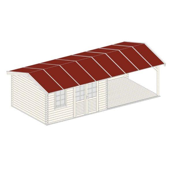 Domek 15660 z wiatą 7,89×3,54×2,57h