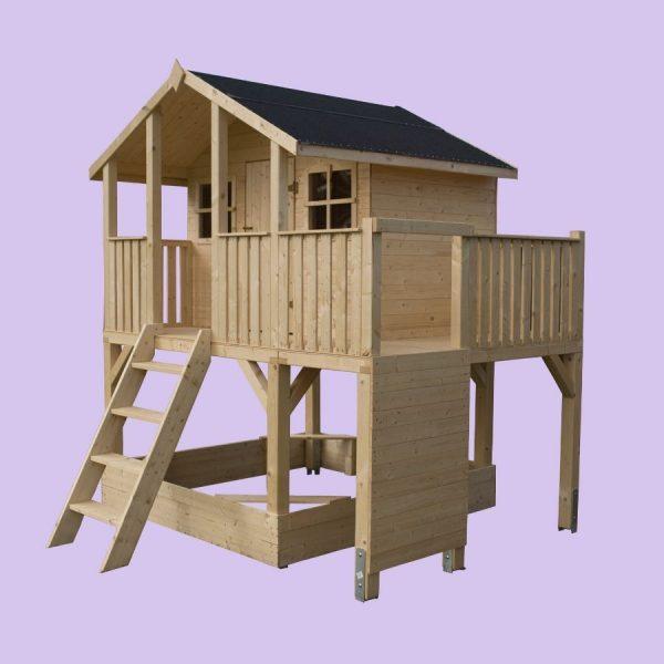 Domek dla dzieci ze ścianką wspinaczkową