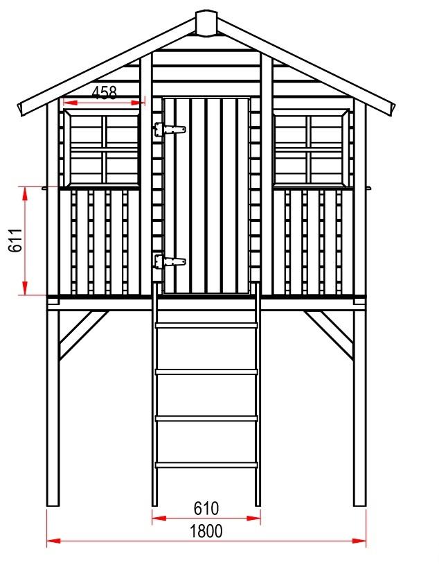 Domek dla dzieci z tarasem