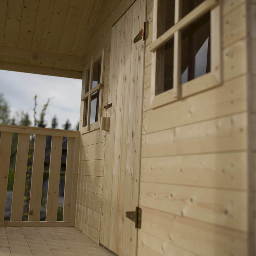 domek dla dzieci ze ścianką